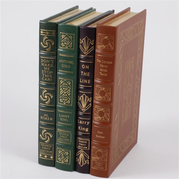 Lot of 4 books; Dan Rather, Larry King, & Al Roker.