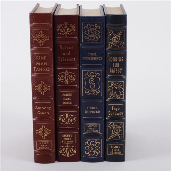 Lot of 4 books; Anthony Quinn, James Earl Jones, Cybill Shepherd, & Faye Dunaway.