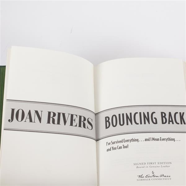 Lot of 2 books; Joan Rivers & Judy Collins signed first editions.