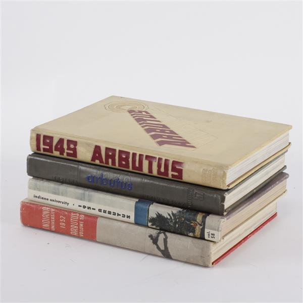 Four Indiana University Arbutus Books; 1949, 1957, 1951, & 1952.