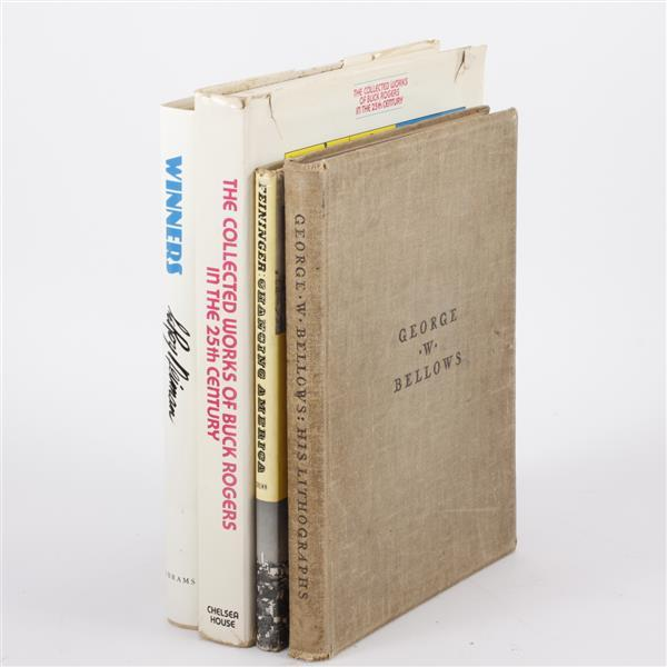 Lot of 4 books; Buck Rogers, George Bellows, Andreas Feininger & LeRoy Neiman.