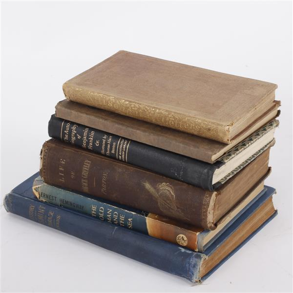 Lot of 6 books; Incl. Lorenzo Altisonant, Hemingway, 1792 - 1892 U.S. Mint Centennial, ...