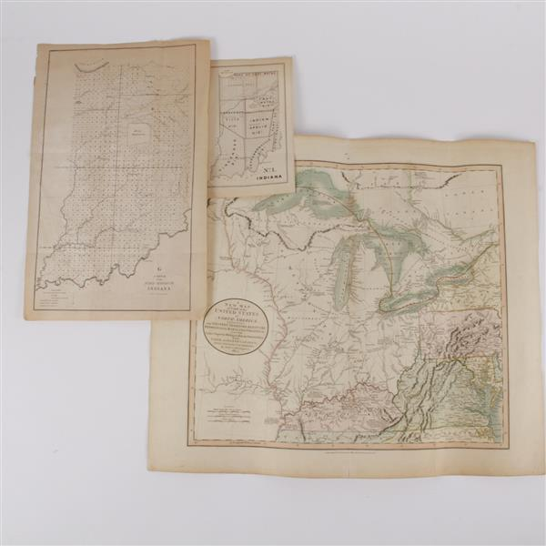 Lot of 3 maps; Incl. Engraving by John Cary.