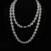 Art Deco Necklace with Czech frosted glass beads