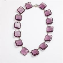 Art Deco Purple Crystal Necklace
