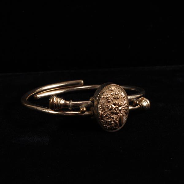Victorian gold filled adjustable bypass bracelet