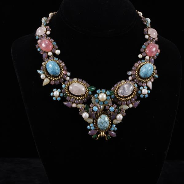 Christian Dior Vintage Haute Made in Germany Pastel Necklace
