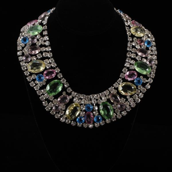 Kenneth J. Lane (KJL) Rhinestone Bib Necklace