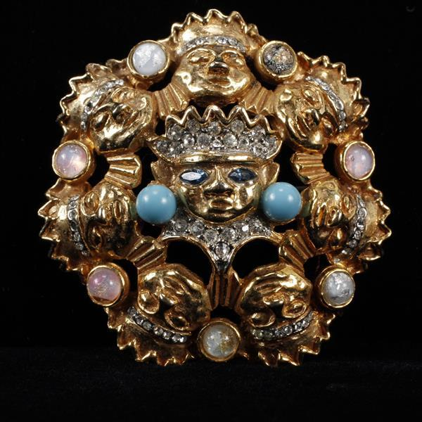 Kenneth J. Lane (KJL) Figural Brooch Pin