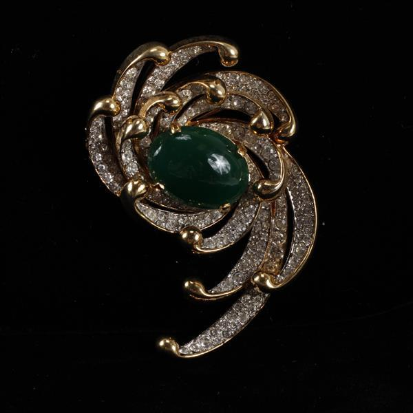Kenneth J. Lane (KJL) Pave Brooch Pin