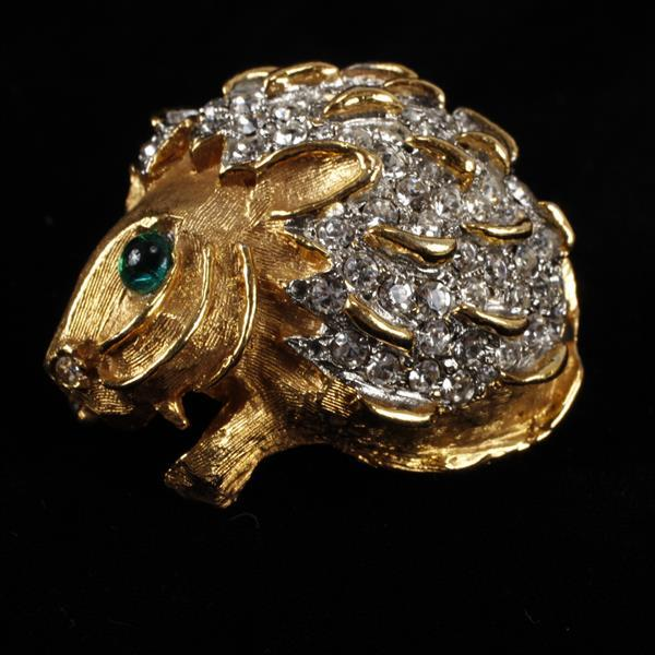 Kenneth J. Lane (KJL) Pave Hedgehog? Brooch Pin