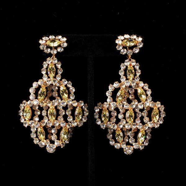Kenneth J. Lane (KJL) Rhinestone Chandelier Earrings