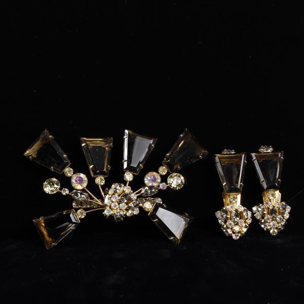 Schauer 2pc. Brooch & Clip Earrings