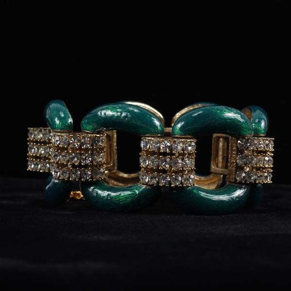 Ciner enamel and pave rhinestone bracelet