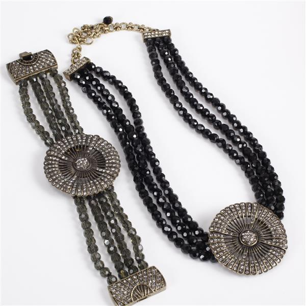 Heidi Daus 2pc. Multi-strand Necklace & Bracelet