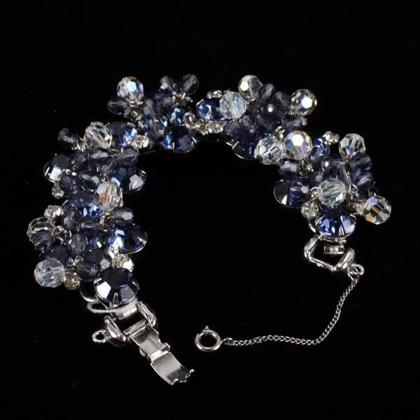 Juliana? Blue & Clear Bracelet