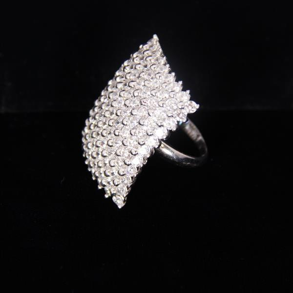 Seta Sterling Diamante Pave Ring