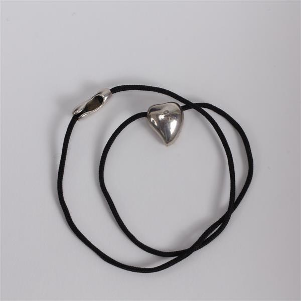 Georg Jensen Denmark Sterling Silver Heart Pendant Necklace