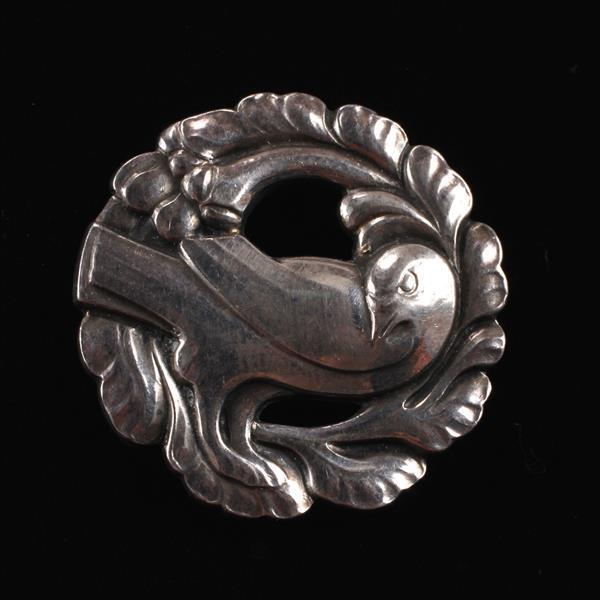 Georg Jensen Denmark Sterling Silver Brooch Pin