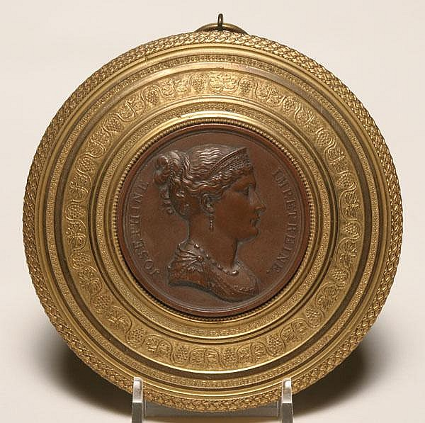 Gutta percha medallion of Empress Josephine;