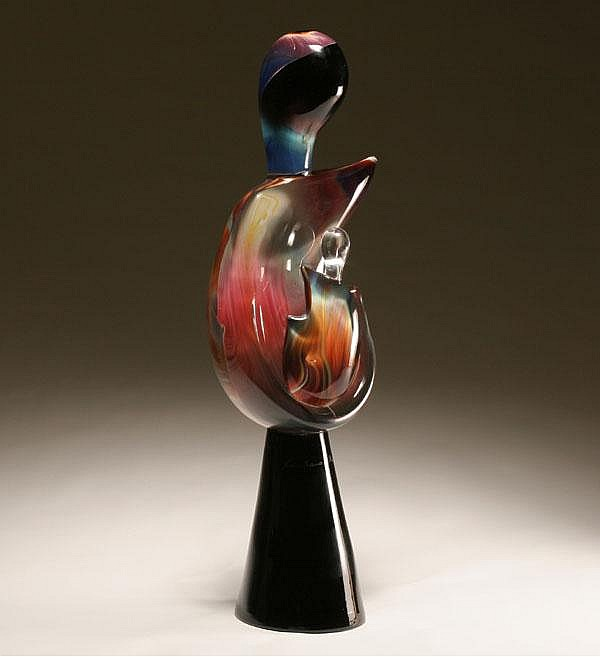 Loredano Rosin calcedonia glass sculpture