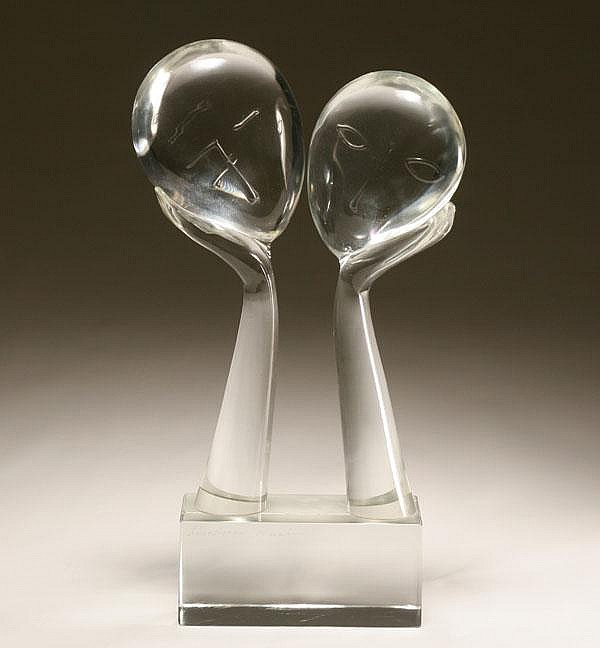 Loredano Rosin glass sculpture...The Kiss.
