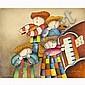 Joyce Roybal, (b.1955), Musicians Quartet, Acrylic on canvas., 20