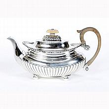 Matthew Boulton old Sheffield English silverplate teapot.