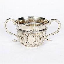 1924 Britannia Standard 958 sterling silver double handle cup.