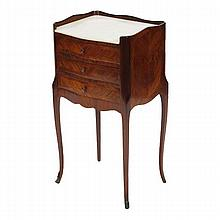 French marble top three drawer commode / stand.