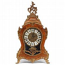 French Louis XV style inlaid marquetry ormolu clock.