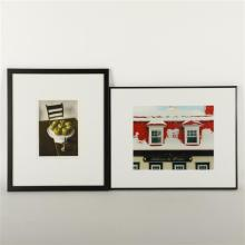 Two color photographs signed by the artist.