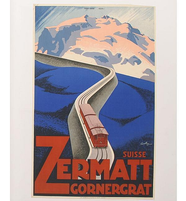 Coulon Suisse Zermatt Gornergrat Travel Poster