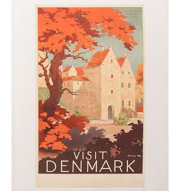 Sven Henriksen Visit Denmark Travel Poster