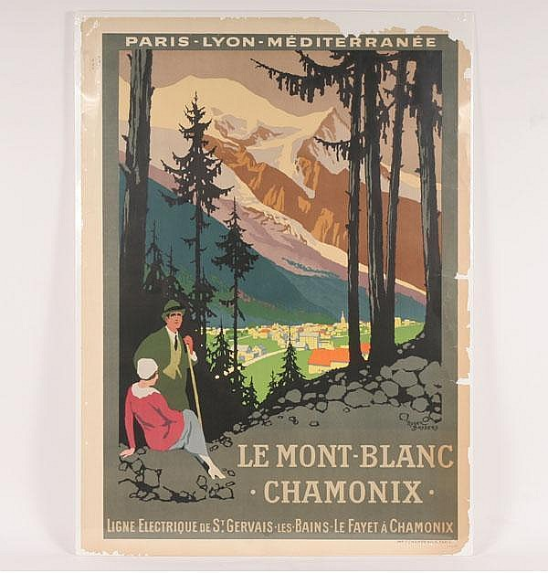 Roger Broders Le Mont Blanc Chamonix Travel Poster
