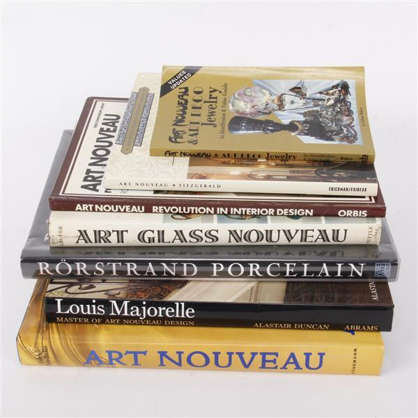 Coffee Table Art Books: Seven Art Nouveau Coffee Table Reference Books