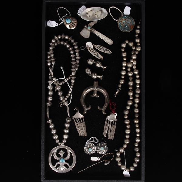 Vintage native american jewelry including sterling silver i for Silver jewelry repair indianapolis