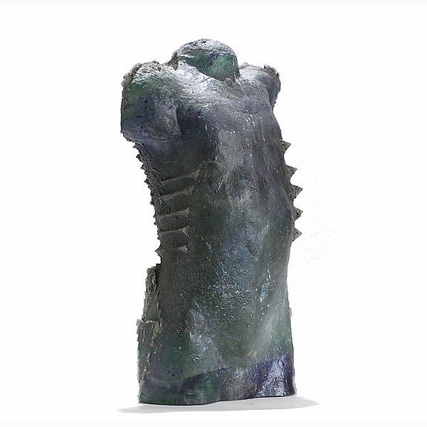 Steve Tobin, (American, b. 1957), Torso of a Child, cast glass, 21