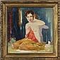 Randolph Lasalle Coats, (American/Indiana; 1891 - 1957), Sylvia, Oil on board, 14