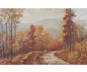 Francis Clark Brown Autumn Oil on Canvas IN Art