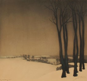 Roger Hebbelinck Trees Numbered Print Signed