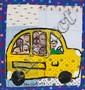 Chris Clark, Quilt with School Bus, 17 1/2