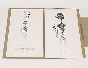 Pietro Lazzari Adam & Eve 12 Drawings Signed