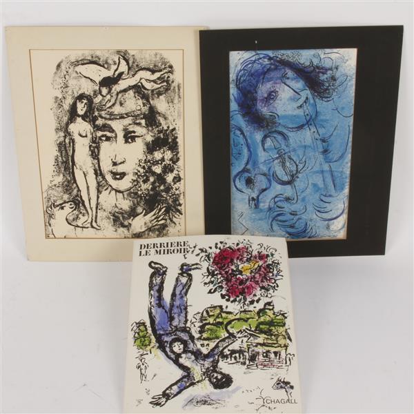 Derriere le miroir folio by marc chagall maeght no 147 for Chagall derriere le miroir