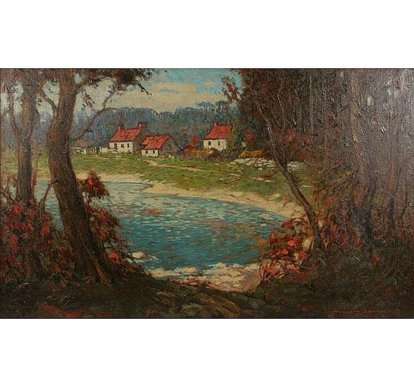 Randolphe L. Coats Country Estate Oil Painting
