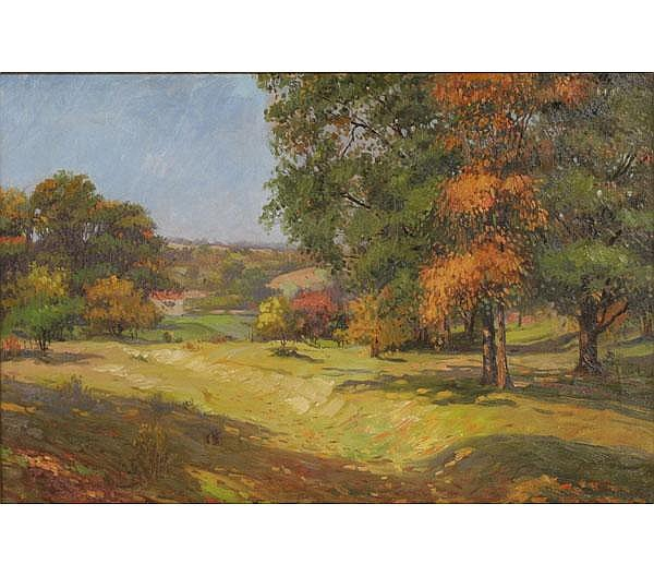 Joseph Tomanek Fall Landscape Oil Painting