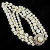 Miriam Haskell 2pc. Multi-strand Pastel Yellow Glass Bead Necklace & Clip Earrings