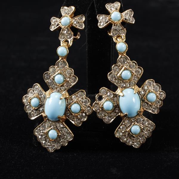 Kenneth Lane KJL Vintage Designer Chandelier Earrings