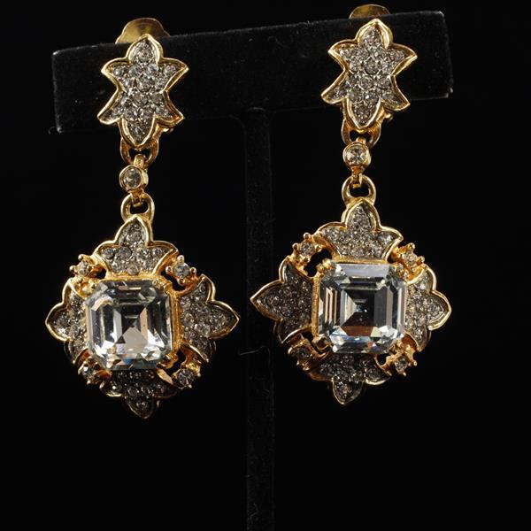 Kenneth Lane KJL Vintage Designer Chandelier Earrings