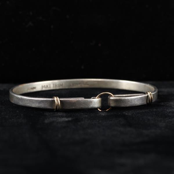 Tiffany & Co. Sterling Silver 14k Yellow Gold Bracelet